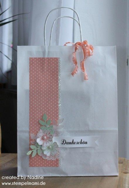 Papiertuete Stampin Up Paper Bag Bag Verpackung Gift Idea DIY