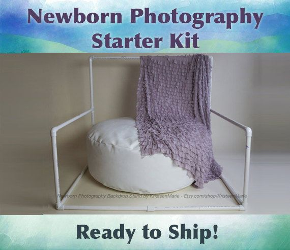 Newborn Photography Starter Kit: Includes Newborn Poser Bean Bag & Backdrop Stand - want this!