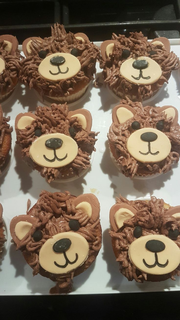 Teddy bear cupcakeas