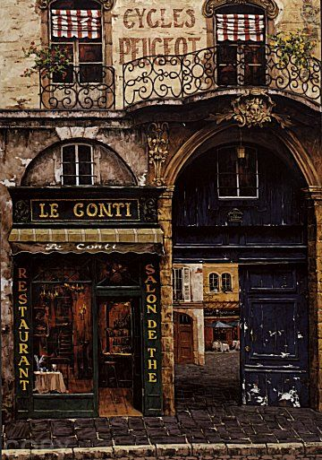 Le Conti restaurant ~ Paris, France.
