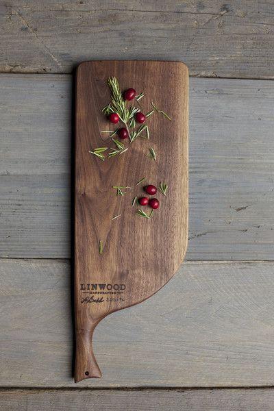 94. Medium Black Walnut Wood Handcrafted Cutting Board
