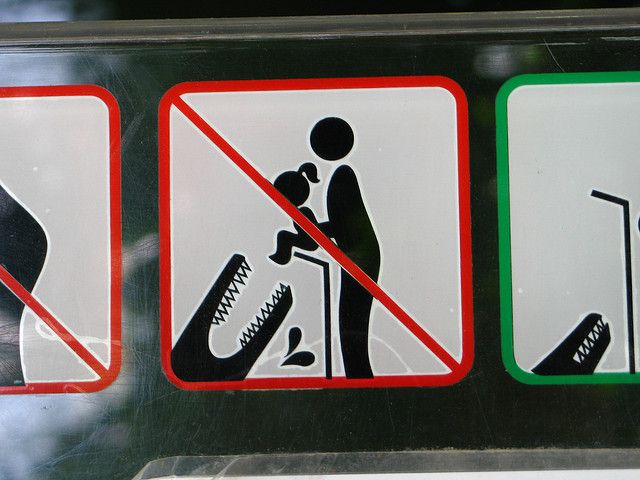One of my all-time favourite signs. From Tallin Zoo, Estonia.