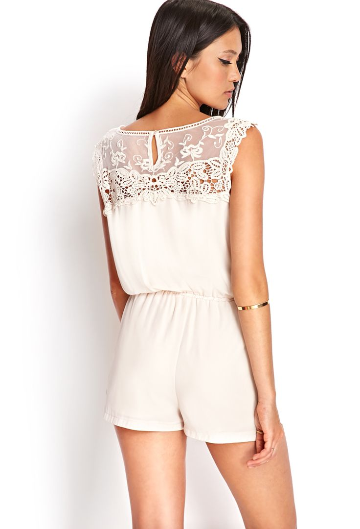 Embroidered Crochet Romper | FOREVER21 #SummerForever
