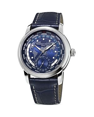 Frederique Constant Worldtimer Manufacture Men Watch. One-of-a-kind, Elegant and Luxurious watch made by The Swiss Manufacturer Frederique Constant.