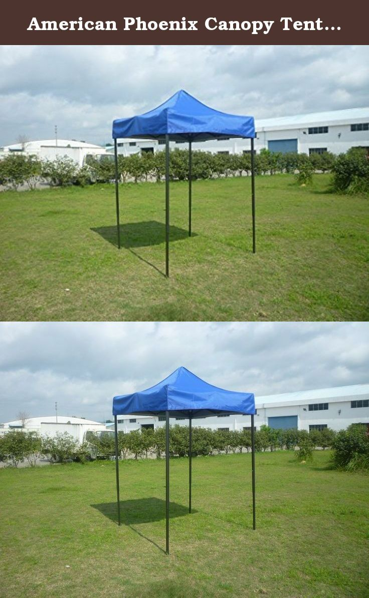 American Phoenix Canopy Tent 5x5 feet Party Tent Gazebo Canopy Commercial Fair Shelter Car Shelter Wedding Party Easy Pop Up (Blue). You are bidding on a PE material canopy tent. Great for setting up at a park or in your own back yard. No tools necessary to assemble. Perfect for Arts and Craft Shows, Swap Meets, Flea Markets, Garage Sales, Fairs, Bake Sales, Camping, Picnics, Parties, Sporting Events... the possibilities are endless! Please Note: We advise customers to never leave canopy…
