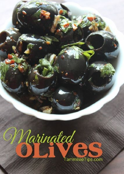 Super Easy Marinated Olives! Perfect for holiday parties! You can make these ahead of time!