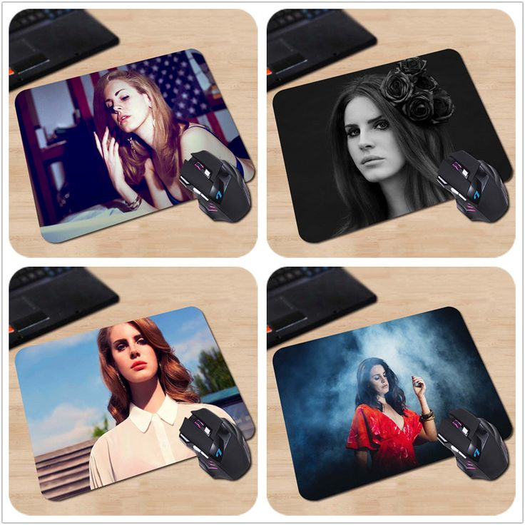 Customized Singer Lana Del Rey Poster Anti-slip Mousepad Computer Mouse Pad for Optical Laser Mice Trackball Mouse Pad