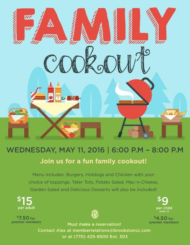 family cookout event flyer poster template bbq. Black Bedroom Furniture Sets. Home Design Ideas