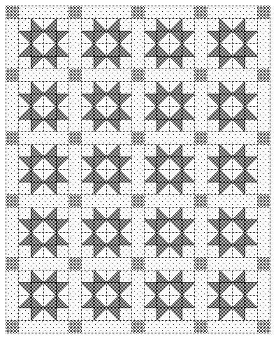 Ohio Sawtooth - Easy FREE QUILT PATTERN