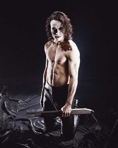 Brandon Lee in The Crow. I still thought he was super sexy even with the makeup on. Is that weird?