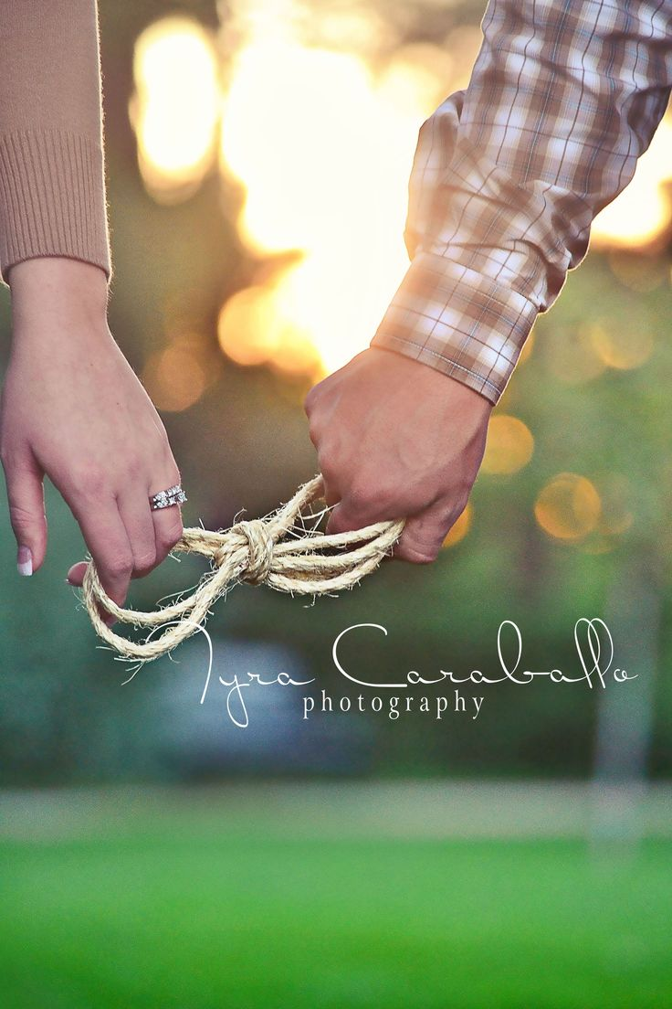 Engagement. Love the tie the knot idea with of course her engagement ring it in.