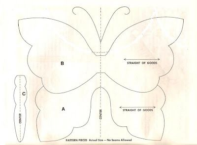 Butterfly Pattern. I wonder if I could sew twist-ties inside ribbon for the…
