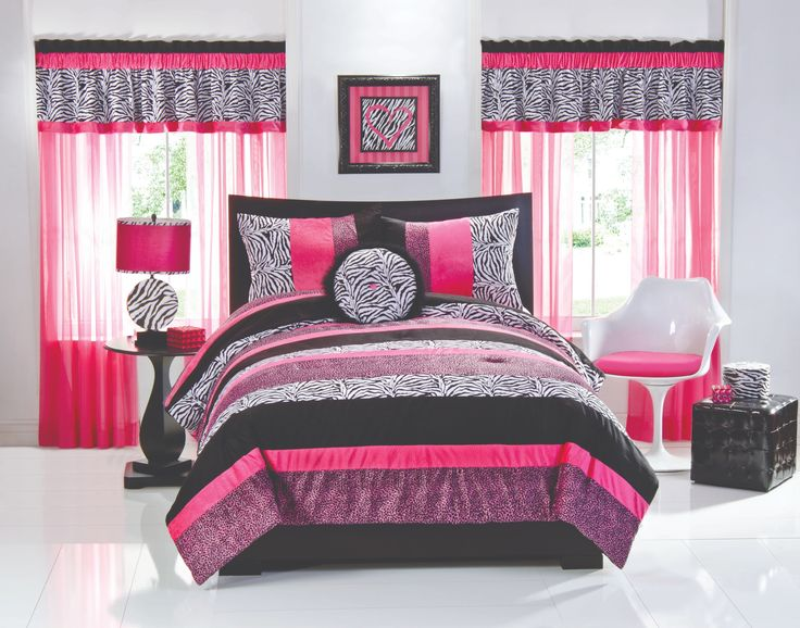 Superior Luxury White Themes Design Room For Teenage Girls With Elegant Black Wood  Bed Frame That Have