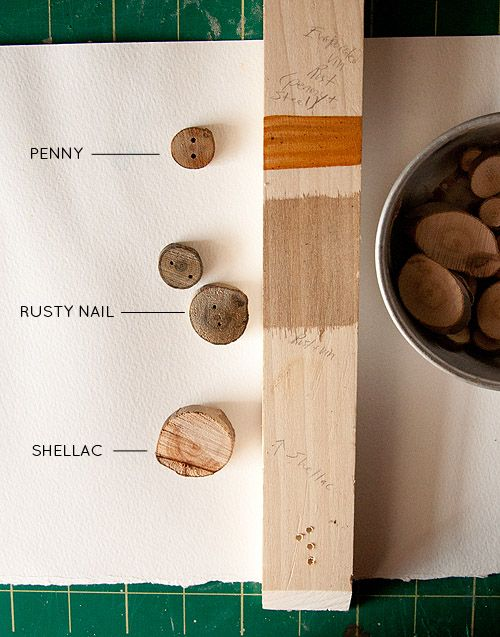 Make your own naturally-stained wood buttons with this comprehensive tutorial.