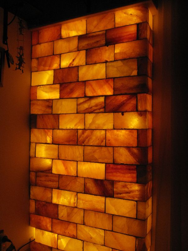 Wall made of salt blocks | Berenyi | Pinterest | Cool ...