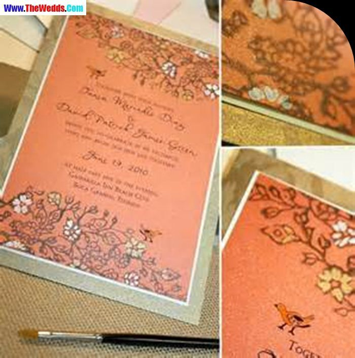 how much do invitations for wedding cost%0A vintage coral wedding invitations