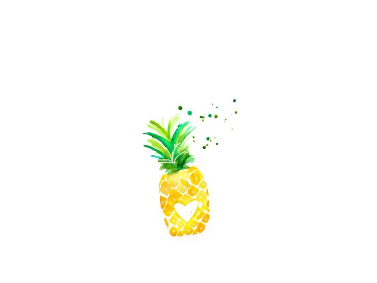 Pineapple Illustration by Ale Chavarria.  www.inside-playa.com