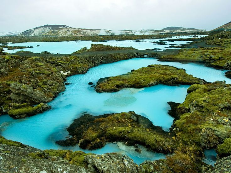 Blue Lagoon Iceland Grindavik, Iceland water sky rock grass Nature natural environment rocky Coast loch tarn Sea landscape aerial photography Lake crater lake stream national park surrounded pond hillside