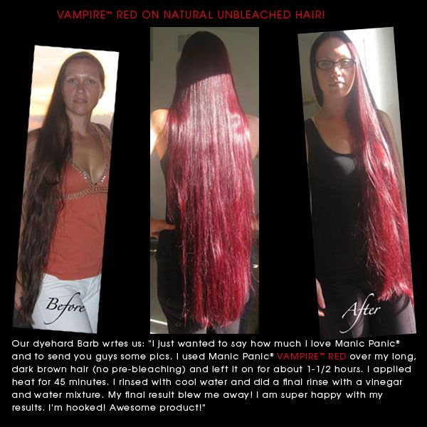 Manic Panic® High Voltage™ Classic Vampire Red -- unbleached hair ...