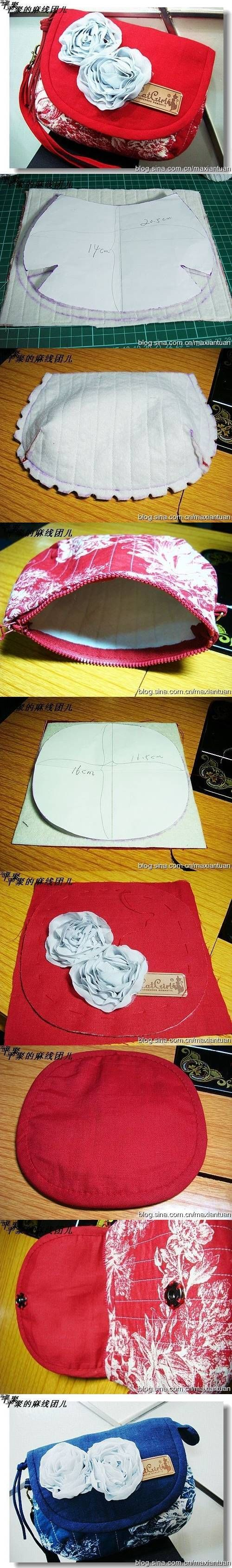 DIY Cute Mini Handbag | UsefulDIY.com--Picture tutorial only, sadly. I'll have to figure this one out. #handbagdiy