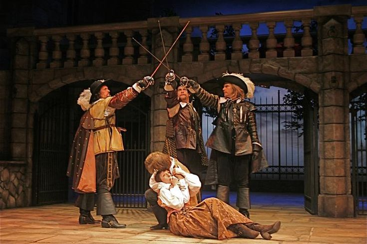 The cast of The Three Musketeers, 2012, Playhouse in the Park (photo: Sandy Underwood)