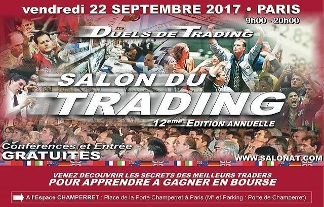 12ème Salon du TRADING Vendredi 22 sept. 2017 (Gratuit)