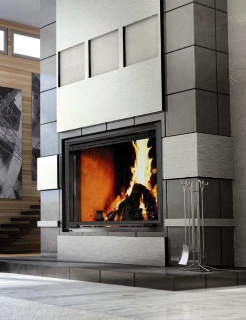 Decorative Fireplace Inserts Part - 15: Modern Wood Burning Fireplace - Excellent Addition To Any Home.