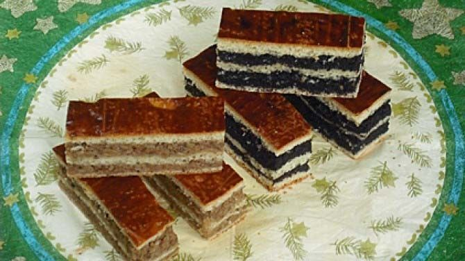 Makové a ořechové koláče
