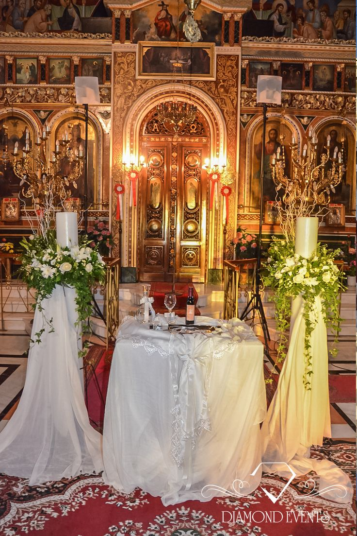 church wedding decorations candles%0A interior design lamps and table in white shades  Flower with green dominant  color  Wedding PlanningWedding IdeasOrthodox