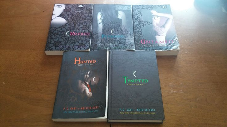 Lot of 5 House of Night Novels P. C. Cast and Kristin Cast Bks 1,2,4,5,6