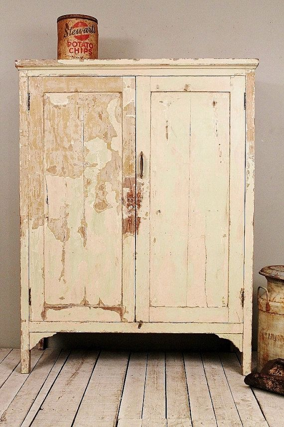 Vintage Distressed Cream Green Indian Industrial Shabby Chic Kitchen  Cupboard Clothing Storage Cabinet on Etsy, - 44 Best Images About Iris Furnishing - Indian Painted Furniture On