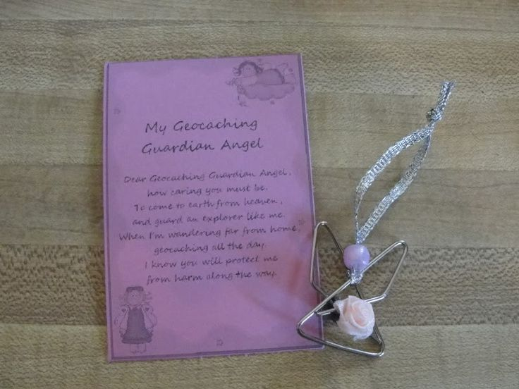 Make a Cute Geocaching Guardian Angel for Geoswag   A Heart Full of Love