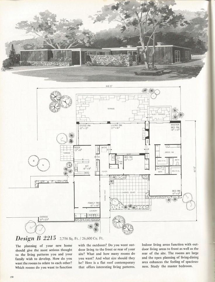 38 best Mid Century Floor Plans images on Pinterest