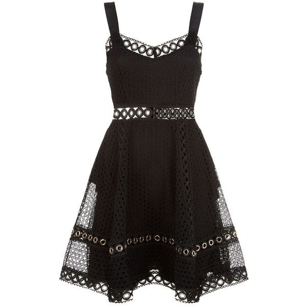 Maje Crochet Lace Dress ($310) ❤ liked on Polyvore featuring dresses, cutout dresses, cut out cocktail dresses, golden dress, macrame dress and cut out dresses