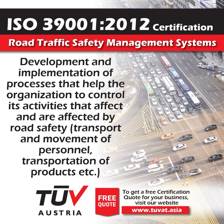 ISO 39001:2012 Certification. Road Traffic Safety Management Systems. For further information visit: tuvat.asia/get-a-quote,  or call Pakistan: (Lahore) +92(42)111-284-284 | Pakistan: (Karachi) +92(21)111-284-284 | Pakistan: (Islamabad) +92(51)2362980 | Bangladesh: +880(2)8836404 to speak with a representative. #ISO #TUV #certification #inspection #pakistan #bangladesh #lahore #karachi #dhaka #ISO39001