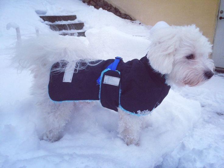 Livet på Granbacken: Dagens första projekt: sy ett hundtäcke