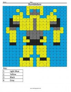 Multiplication and Division coloring math worksheets