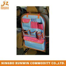 colorido e útil do carro organizador do banco traseiro para crianças e bebés