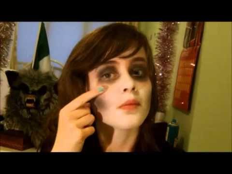 simple ZOMBIE MAKEUP TUTORIAL w/ normal makeup