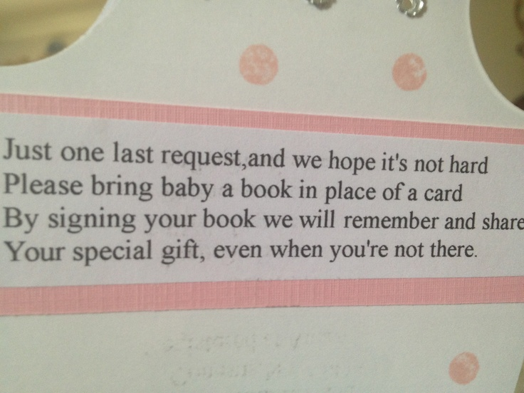 baby shower idea instead of a card with your gift sign a baby