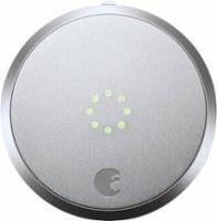 August - HomeKit Bluetooth Deadbolt Retrofit Smart Lock - Silver - Front Zoom