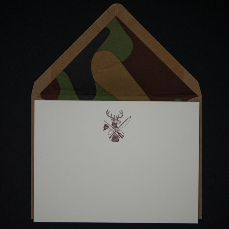 HUNTING NOTE CARDS W/CAMO 6 PACK