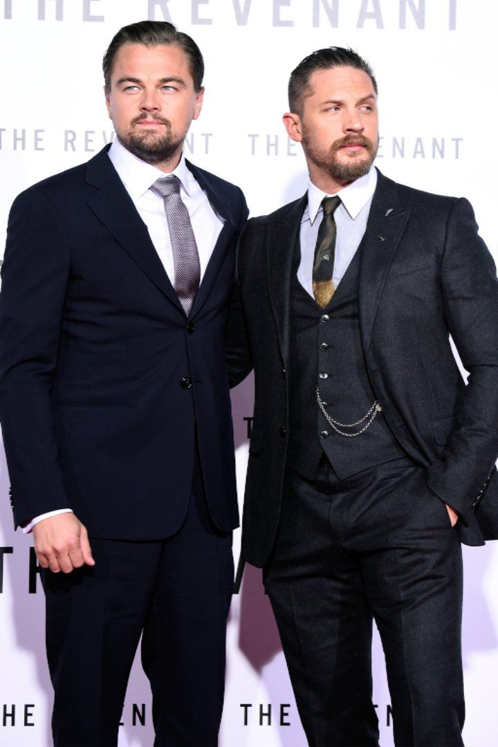Pin for Later: We Almost Can't Handle Leonardo DiCaprio and Tom Hardy on the Revenant Red Carpet