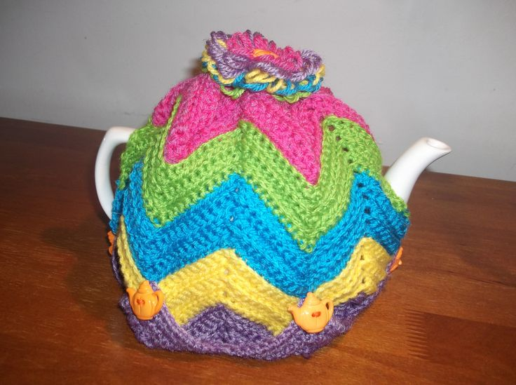 Bright Ripple Teapot Cosy