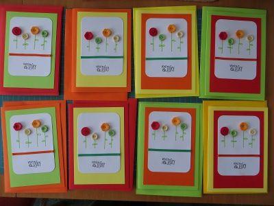 Puffin(us) bloguje: Poděkování do školky - Thank you cards