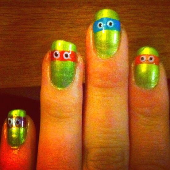 Ninja turtle finger nails