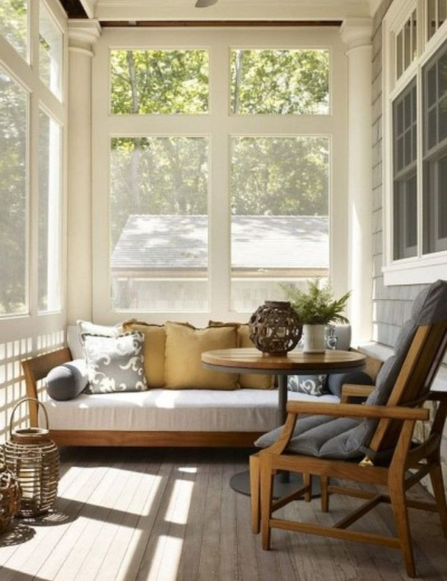 Pin By Leanna On Home Life Sunroom Decorating Small Sunroom