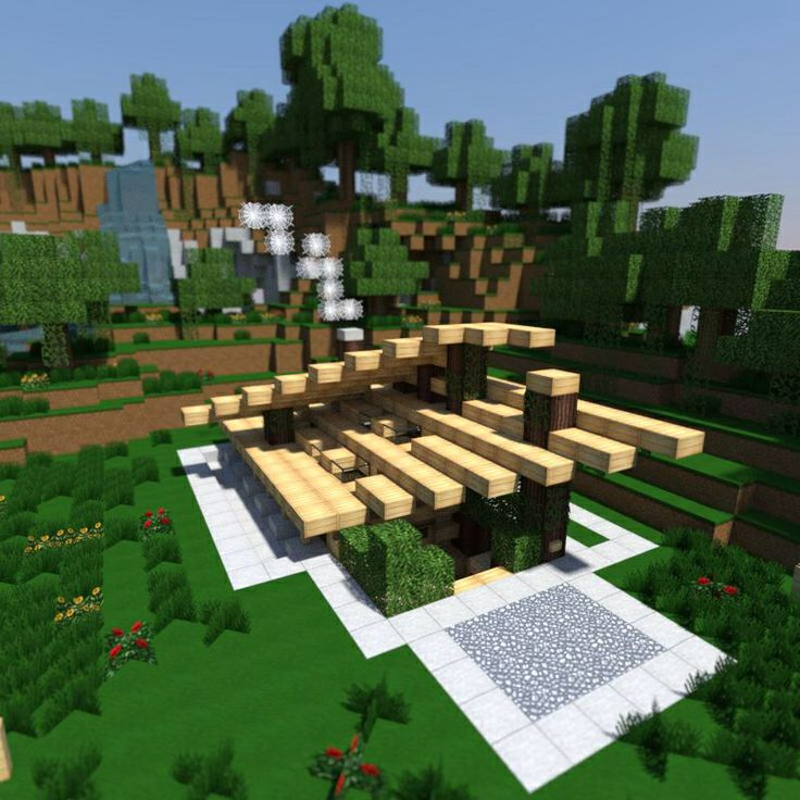 Modern wood house Minecraft Pinterest Modern wood house and