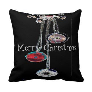 Graphic Christmas Bells American MoJo Pillows