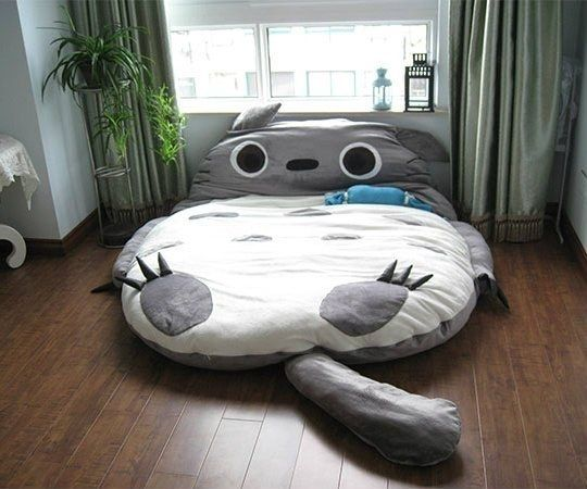 A giant Totoro cushion bed!